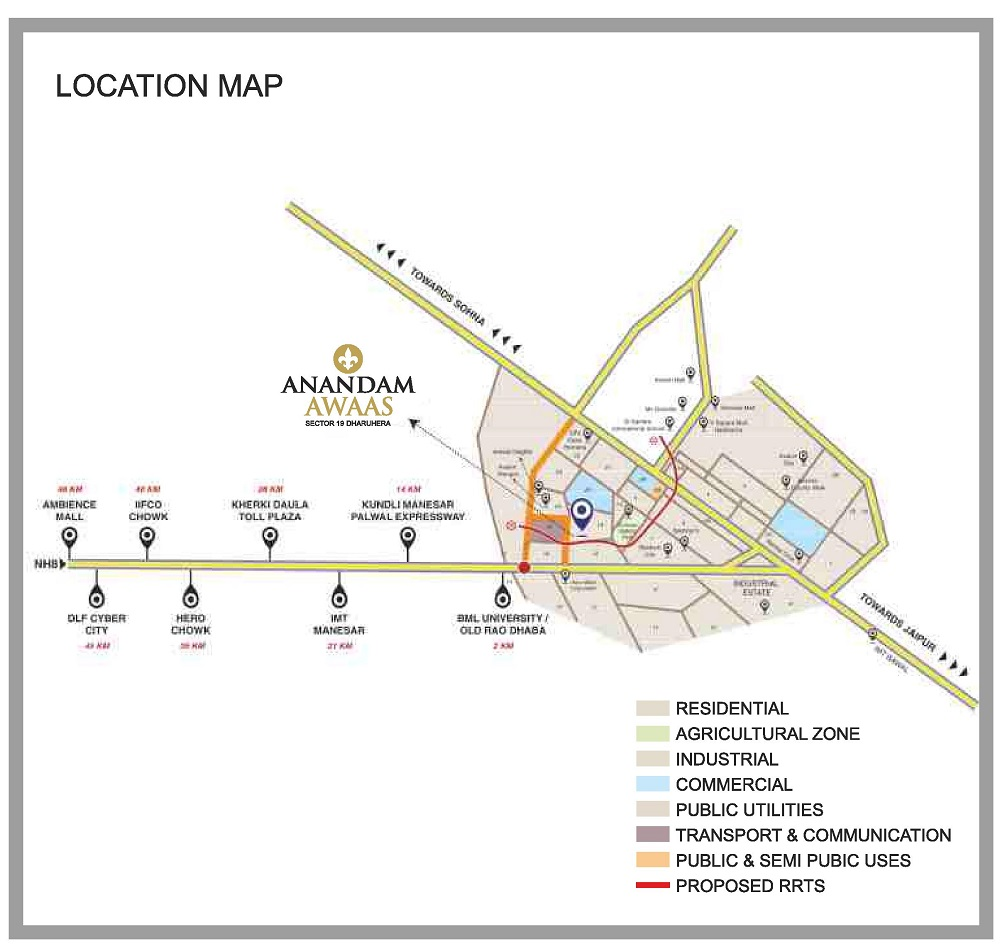 anandam awas location map